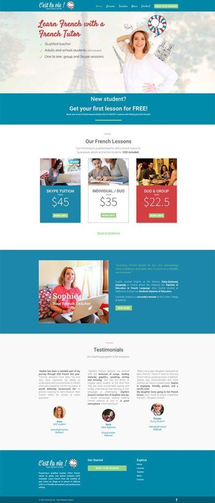 Web Design - California - Portfolio - C'est la vie