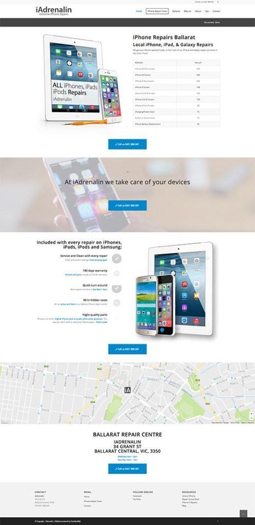 Web Design - San Diego - Portfolio - Smartphones repair