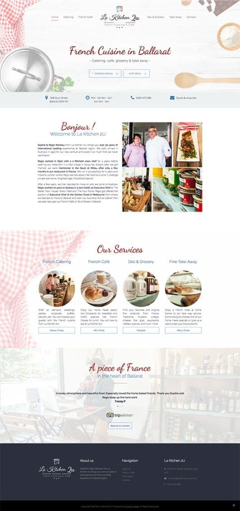 Web Design San Diego - Portfolio - La Kitchen 2U
