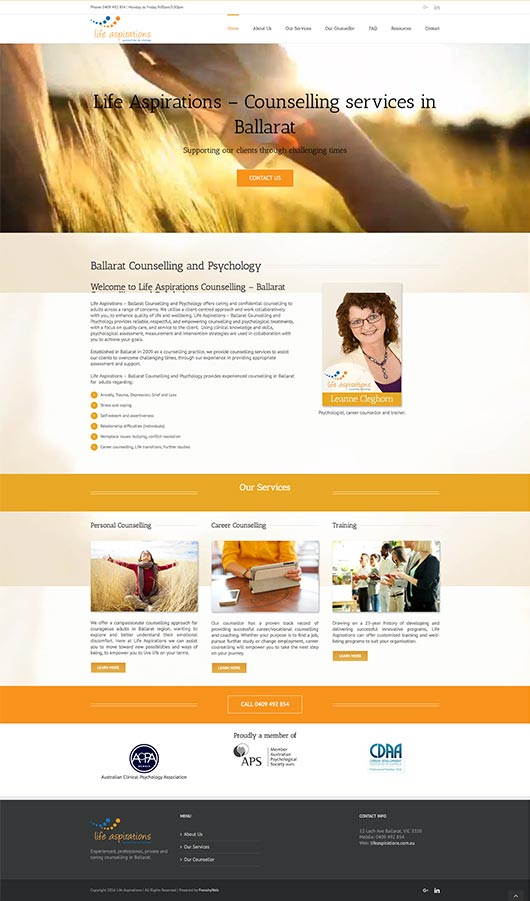 Web Design - California -Psychologist | Frenchy Web