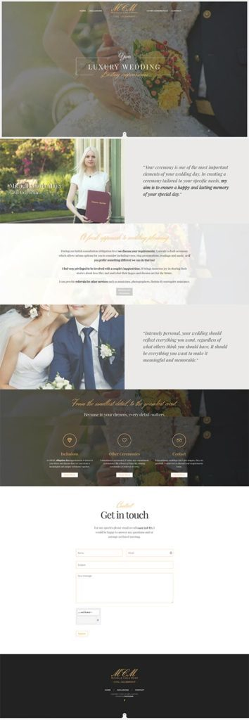 Web Design - California - Portfolio - MCM Celebrants
